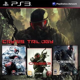 Crysis 1 + Crysis 2 + Crysis 3 Ps3 Digital Gcp