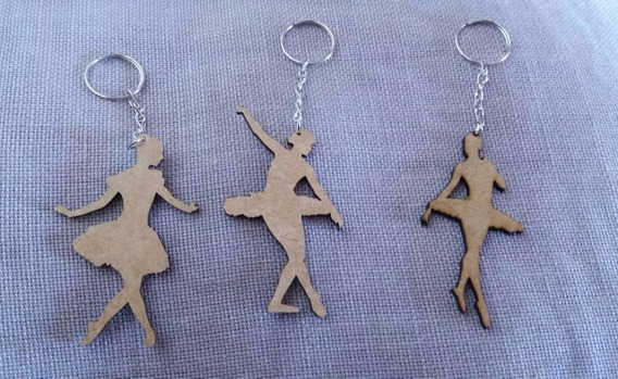 50 Bailarina Mdf - Chaveiro - Escultura - Aplique