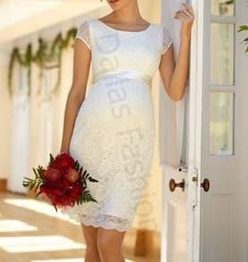 Vestido Gestante Casamento Civil Vestidos Femeninos Com O