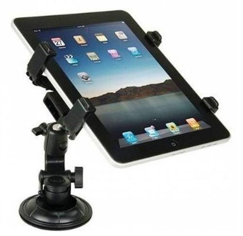 Suporte Ipad Tablet Ventosa Universal Até 10