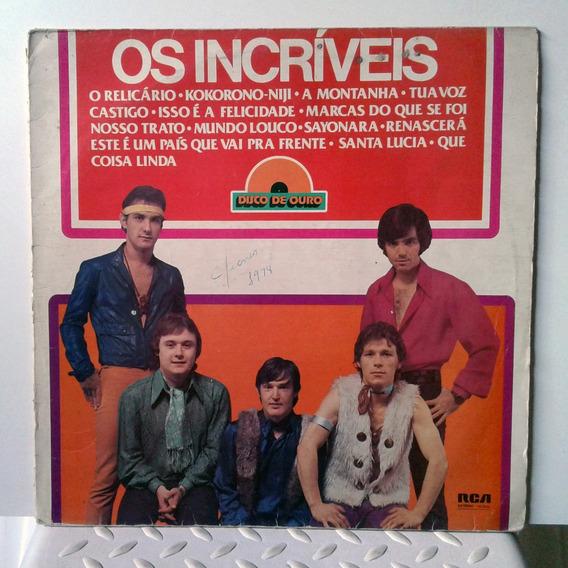 Vinil Lp - Os Incríveis - Disco De Ouro 1977