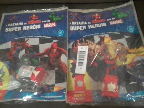 Coleção A Batalha De Xadrez Com Super Heróis Marvel