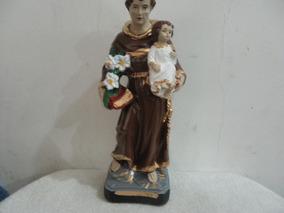 Imagem Santo Antonio De Gesso 20cm Menino Jesus Solto