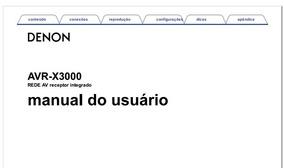 Manual Denon Avr-x3000 Em Português.