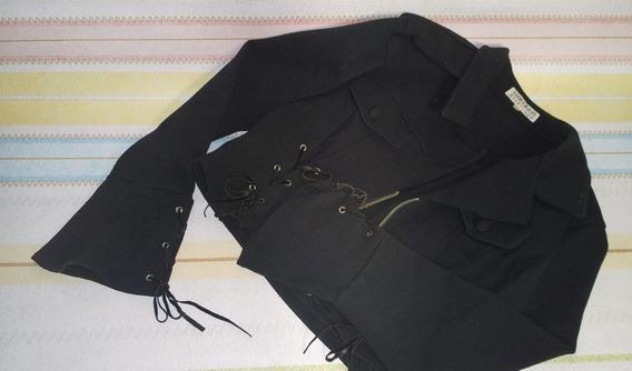 Jaquetinha M Officer - Preta - Muito Fashion!