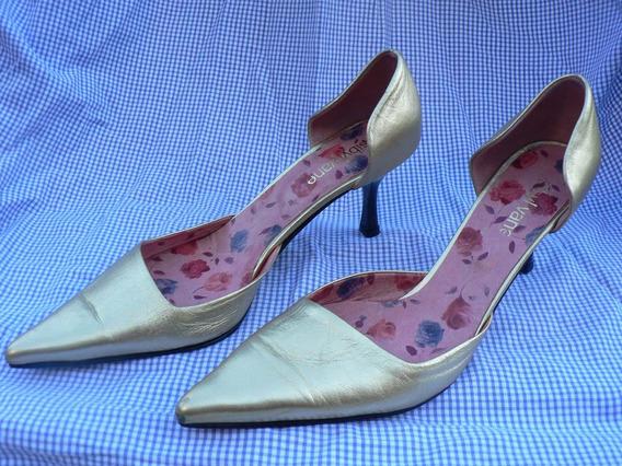 Zapato Sandalia Nº 40 Stiletto Nuevo Cuero Sibyl Vane