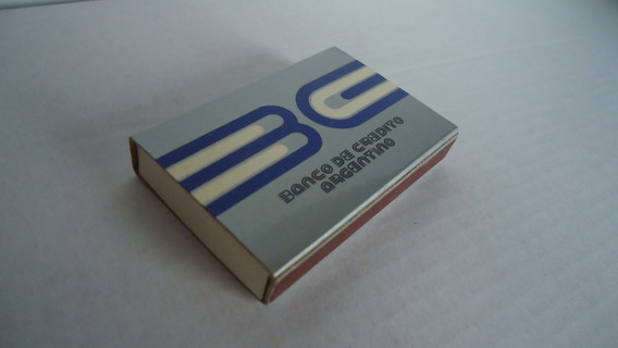 Antigua Caja De Fósforos Del Banco De Crédito Argentino