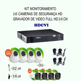 Kit Intelbras Hdcvi 16 Cameras 720p Hd Ir Dvr 16 Canais Etc