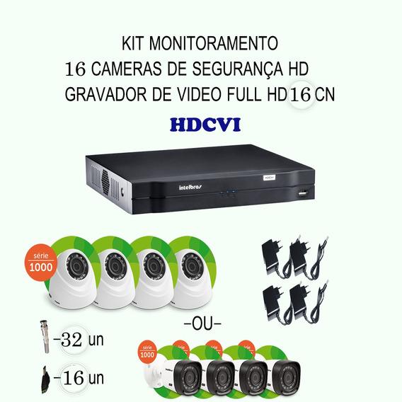 Kit Intelbras Hdcvi 16 Cameras 720p Hd Ir Dvr 16 Canais Etc