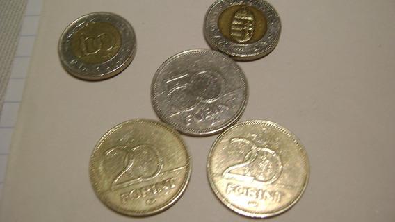 5 Monedas Hungria 100 Forint Bimetalica 50 Forint Lote 6.6