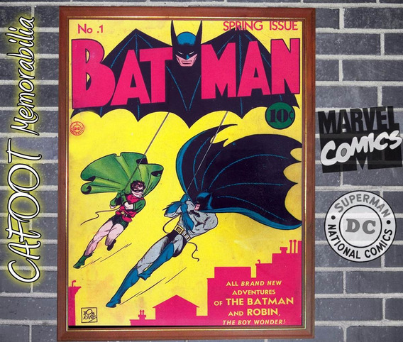 Batman Numero 1 (dc, 1940) Poster Tapa Comic Enmarcado