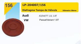 Diafragma Tampa Válvula Passat Variant A3 A4 Tt 1.8 58mm