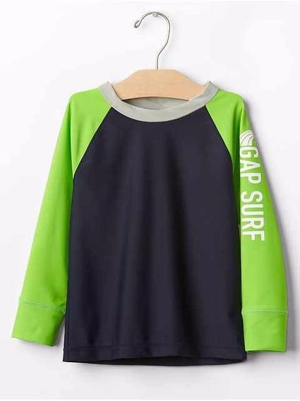 Camisa Bebê Com Proteção Uv 40+ Importado Gap - Verde