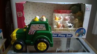 Granja+ Tractor Luces Sonidos 12 Pzas Blue Box+ Devoto Toys