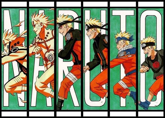 Naruto Poster 60x84cm Anime Mangá - Ornamentar Sala Parede