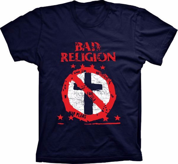 Camiseta Bad Religion Camisa Bandas Maneiras Baratas Adulto