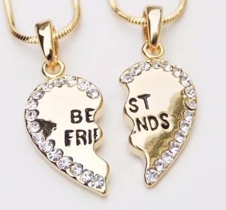 Colar Best Friends Melhores Amigas Folheada Frete Grátis B2