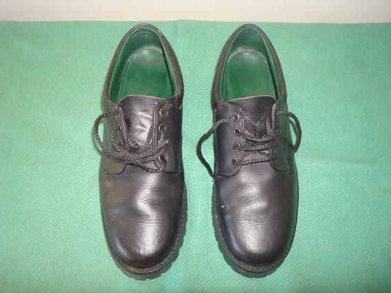 Zapatos Colegiales Unixec Usados De Cuero Marca Kircos N 36