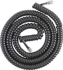Ge 76139 Coil Cord (25 Pies Negros)