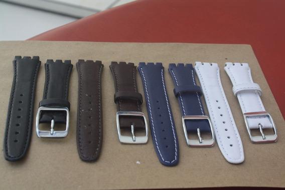 Pulseira Swatch Couro Coloridas Irony 17 E 19mm (leia)