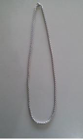 Cordão Fino Masculino Em Aço Inox 316l Cor Prata