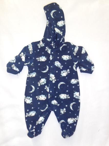 Macacao Soft Bebê Menino Estampa De Ovelha Have Fun Hf0328
