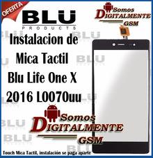 Mica Tactil Pantalla Blu Life One X 2016 L0070uu Instalacion