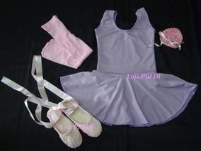 Roupinha De Ballet Infantil Rosa Com Lilas