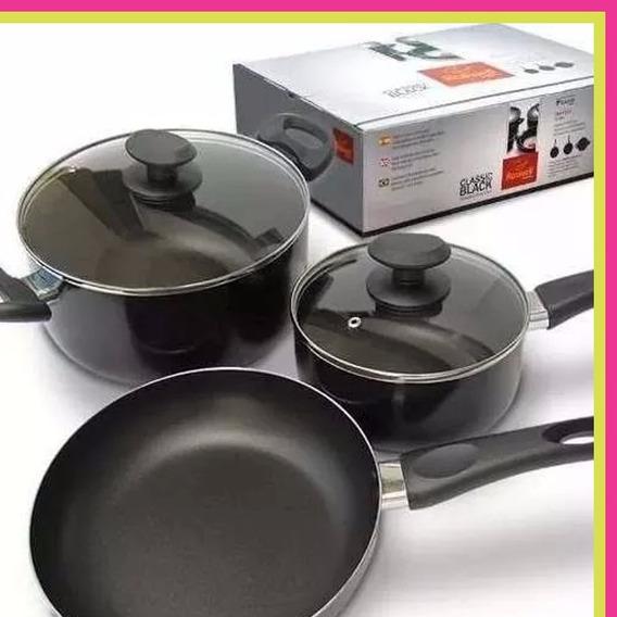 Bateria De Cocina Roswell Teflon Cacerolas Sarten 5 Piezas