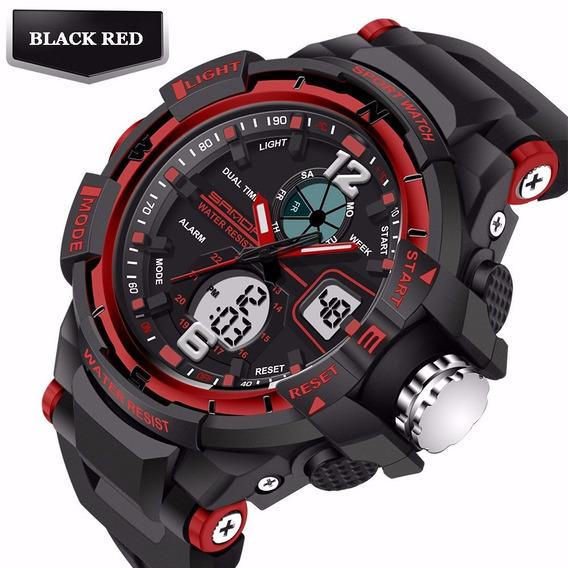 Relógio Masculino Esportivo Shock Dual C/ Luz Frete Grátis!!