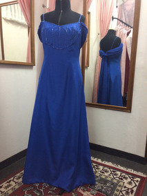 Vestido Alta Costura Azul Royal