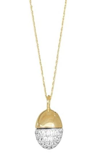 Colar Folheado A Ouro 18k Semijoia Micro Zircônia Cravejadas