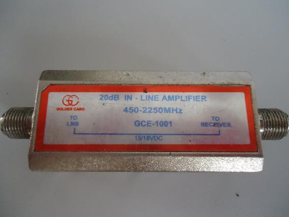 Amplificador Sinal Satelite Parabolica Banda Ce Ku 20 Db