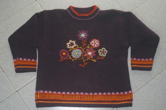 Sweter Importado De Francia Bordado T8