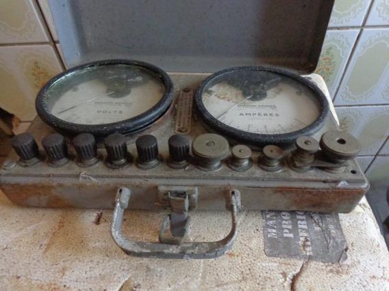 Voltímetro Amperímetro Antigo Não É Provador De Valvulas