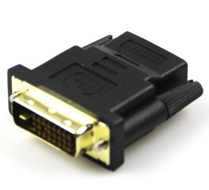 Adaptador Dvi-d Macho 24+1 Dual Link Hdmi Fêmea Banhado Ouro