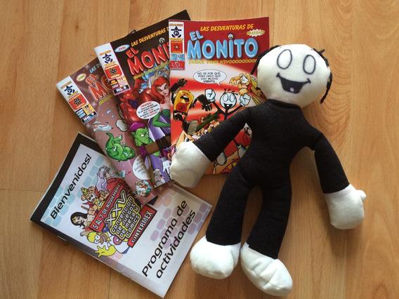 Comic El Monito Set De 3 Comics Y El Monito De Peluche .