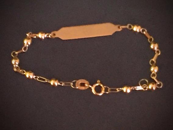 Pulseira Em Ouro 18k, 1.2 Gr.,14cm.