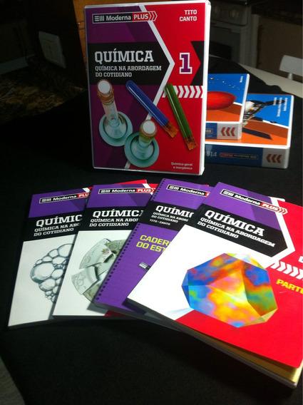 Química Abordagem Cotidiano Vol1 Moderna Plus/ Box 4 Livros