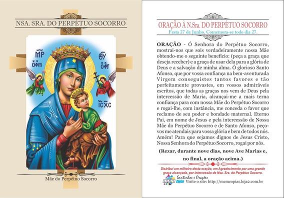 Nossa Senhora Do Perpétuo Socorro(500 Santinhos)frete Grátis