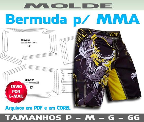 Molde Bermuda Mma - Gabaritos Para Costura E Sublimação