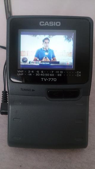 Tv Casio Portatil Raridade Em Estado De Nova Frete Gratis