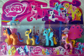 Kit Bonecos My Little Pony Poney Miniatura