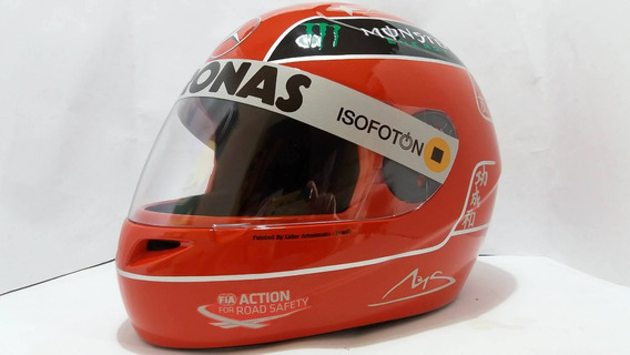 Capacete Michael Schumacher Temporada Mercedes Casco Fly