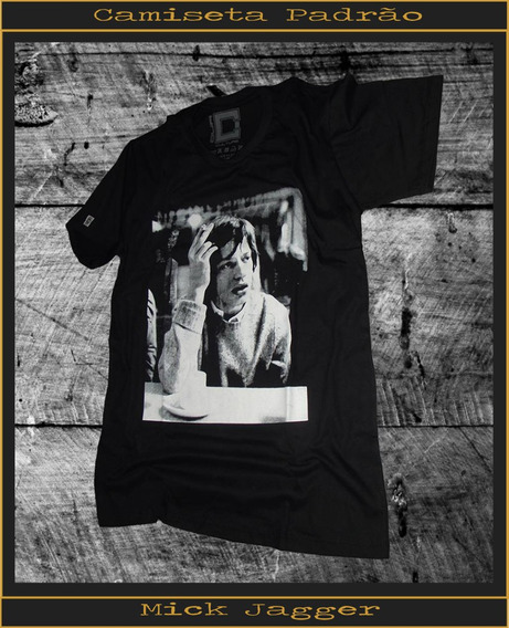 Camisa Camiseta Estampada Baby Look E Masculina Mick Jagger