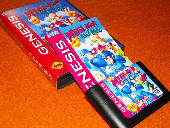 Mega Man The Wily Wars - Versão Americana. Caixa E Manual