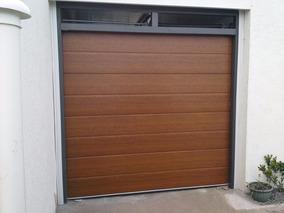 Porton Seccional Para Garage Con Puerta Peatonal
