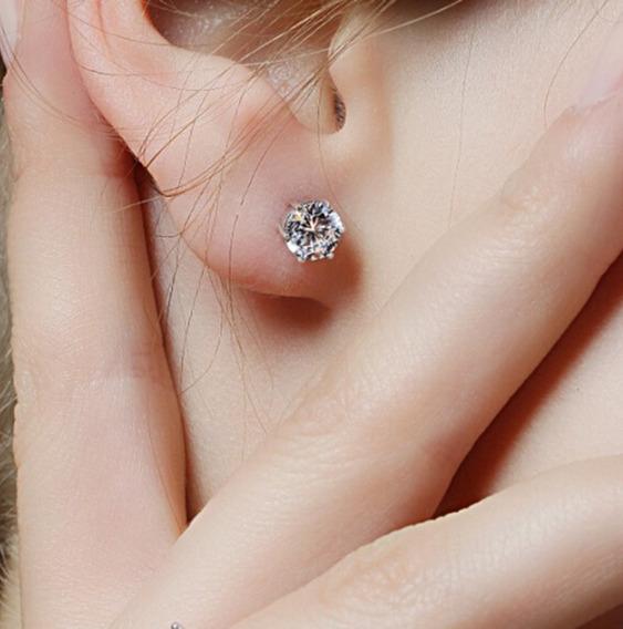 Brincos Simples De Diamantes Cristal Brincos De Orelha