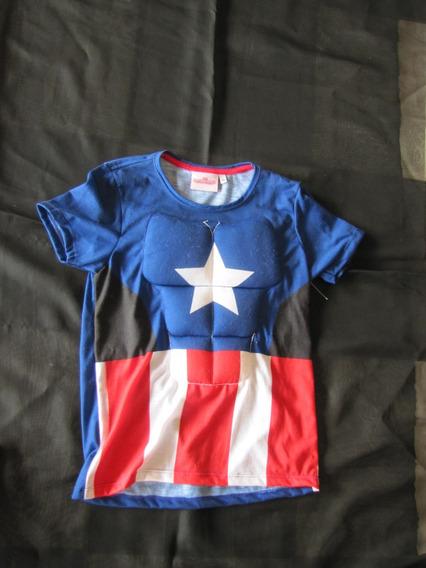 Camiseta Capitão América T 8 Anos