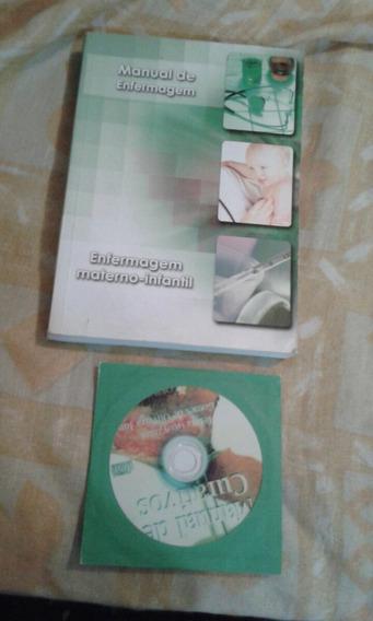 Livro Manual De Enfermagem+ Manual De Curativos-cd Audio Vl7